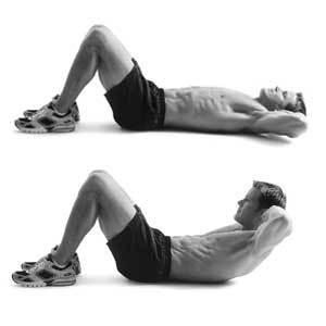 crunches exercices